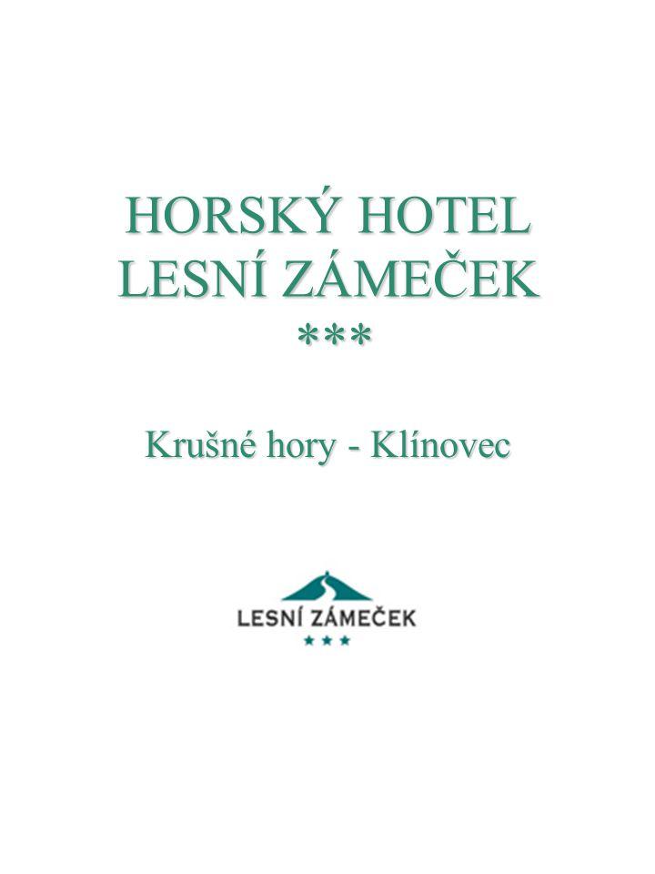 HORSKÝ HOTEL LESNÍ ZÁMEČEK ***