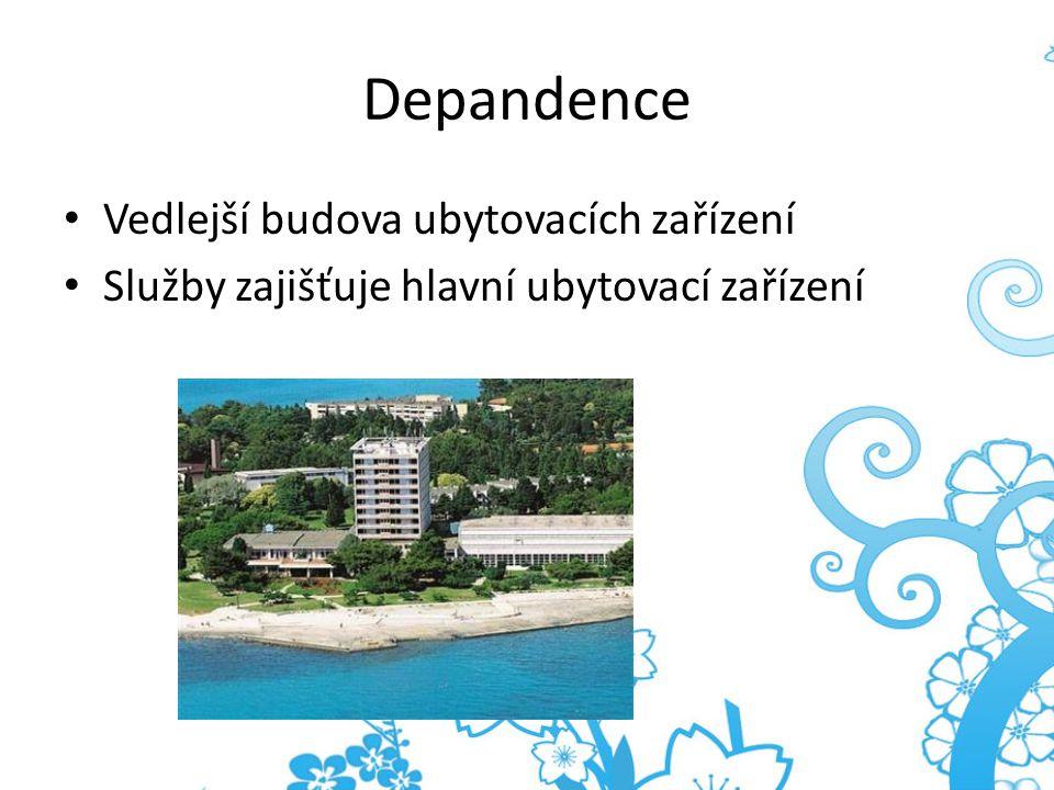 Depandence Vedlejší budova ubytovacích zařízení