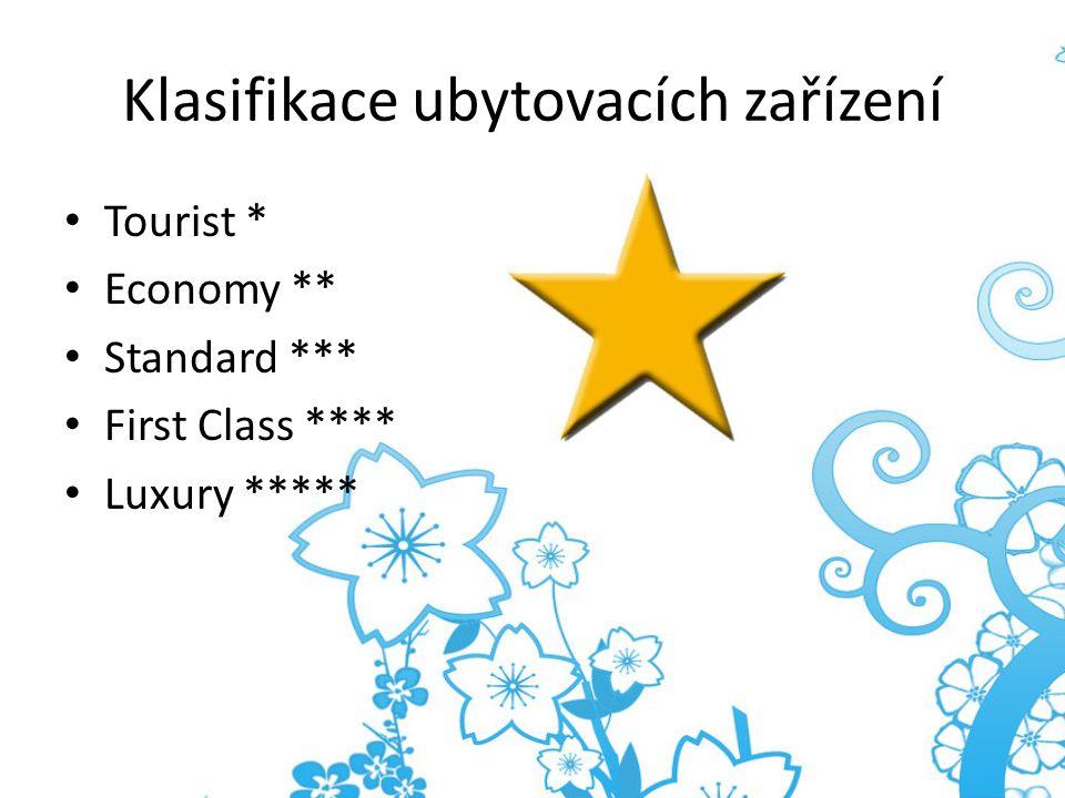 Klasifikace ubytovacích zařízení
