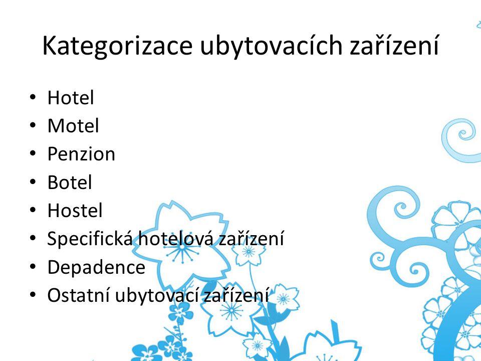 Kategorizace ubytovacích zařízení