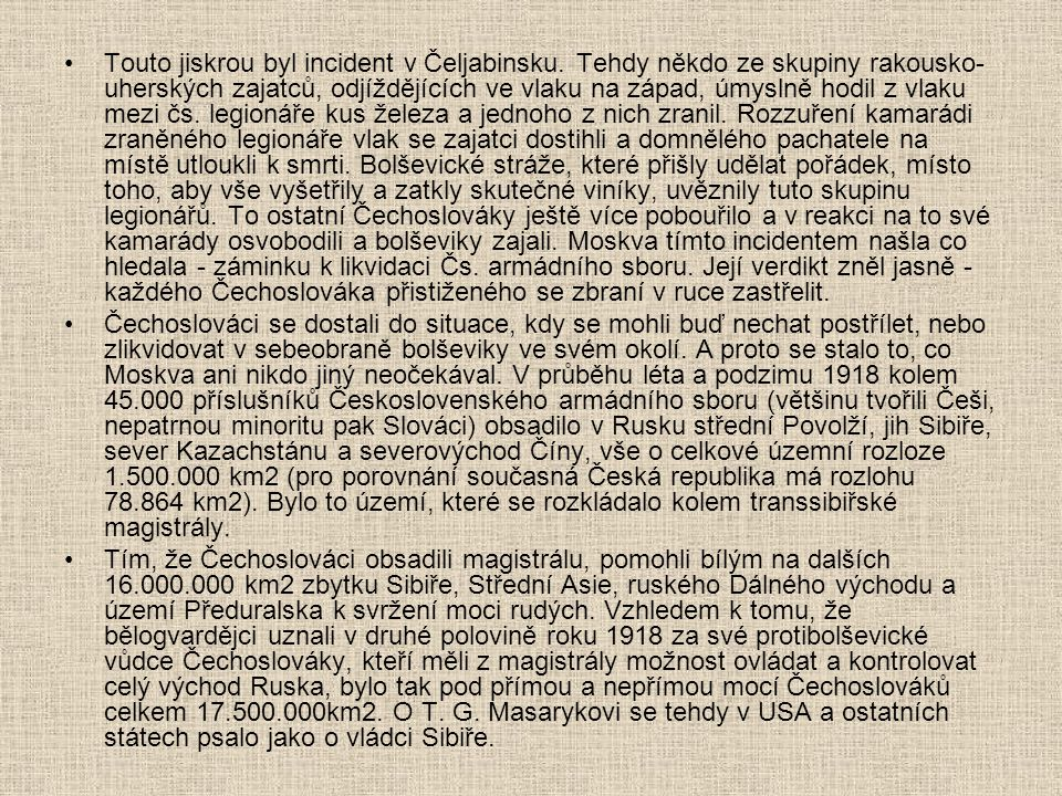 Touto jiskrou byl incident v Čeljabinsku