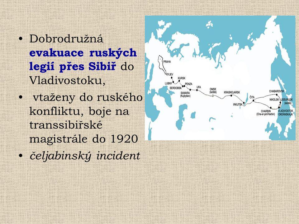 Dobrodružná evakuace ruských legií přes Sibiř do Vladivostoku,