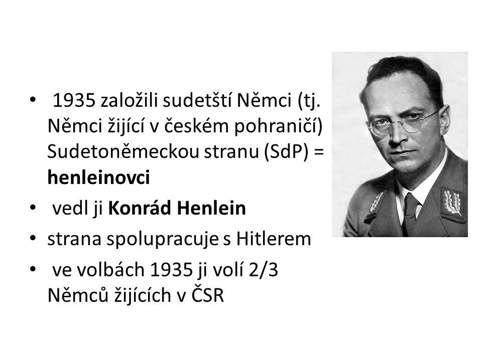 1935 založili sudetští Němci (tj