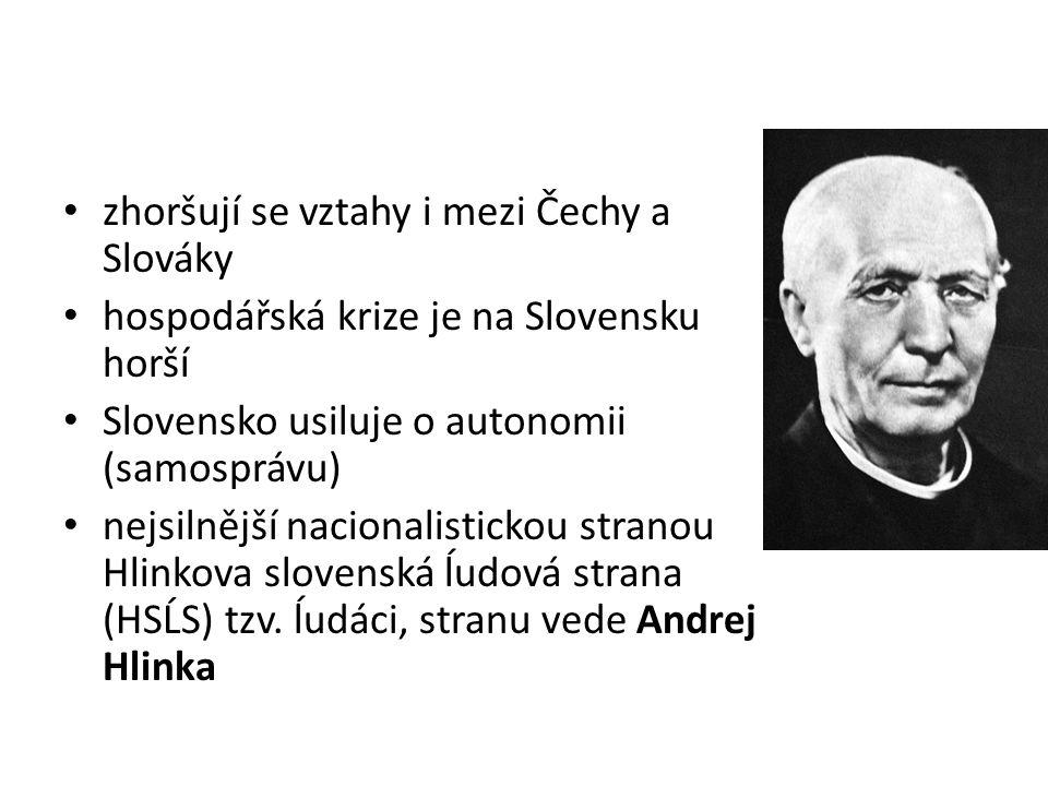 zhoršují se vztahy i mezi Čechy a Slováky