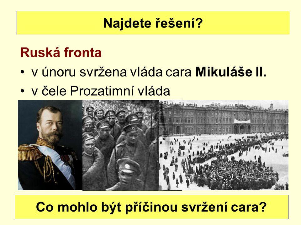 Co mohlo být příčinou svržení cara