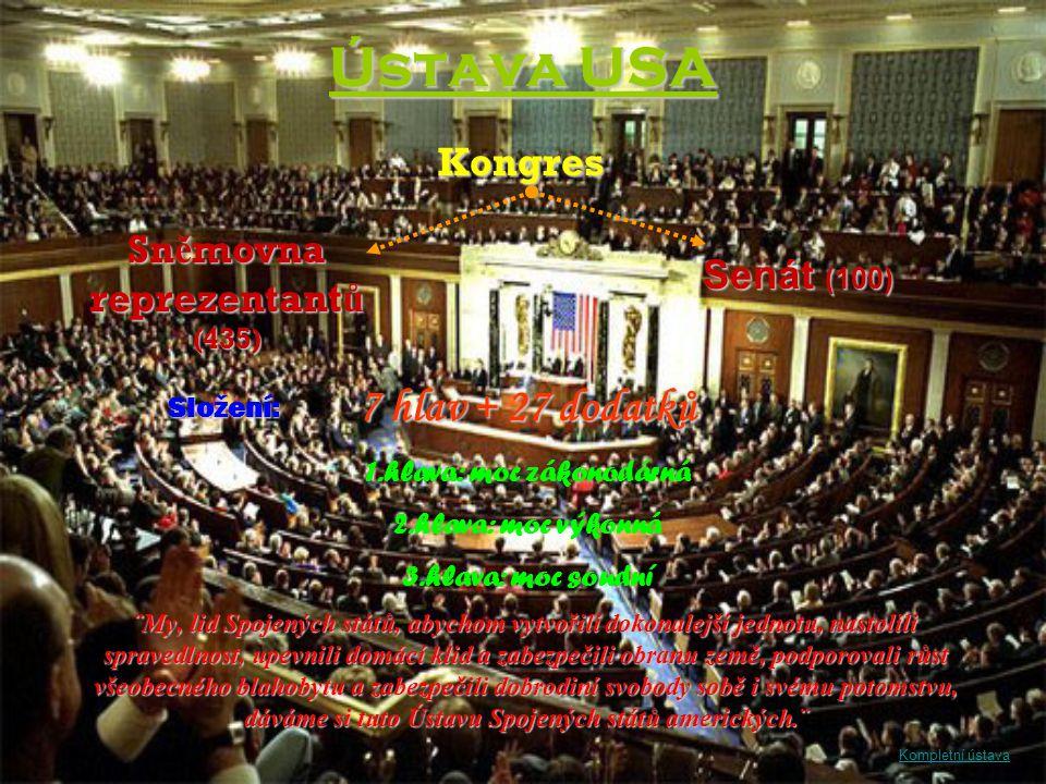 Sněmovna reprezentantů (435) 1.hlava: moc zákonodárná