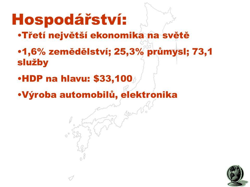 Hospodářství: Třetí největší ekonomika na světě