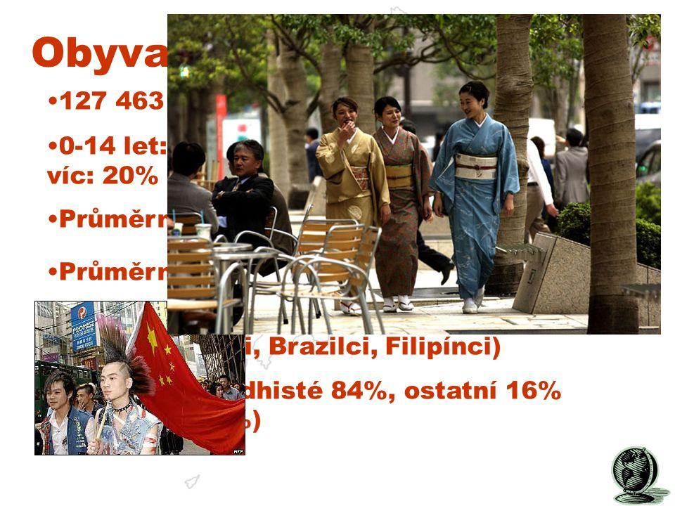 Obyvatelstvo: 127 463 611 lidí. 0-14 let: 14.2%; 15-64 let: 65.7%; 65 let a víc: 20% Průměrný věk: 42,9 let.