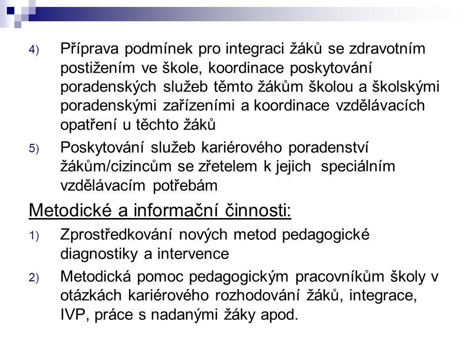 Metodické a informační činnosti: