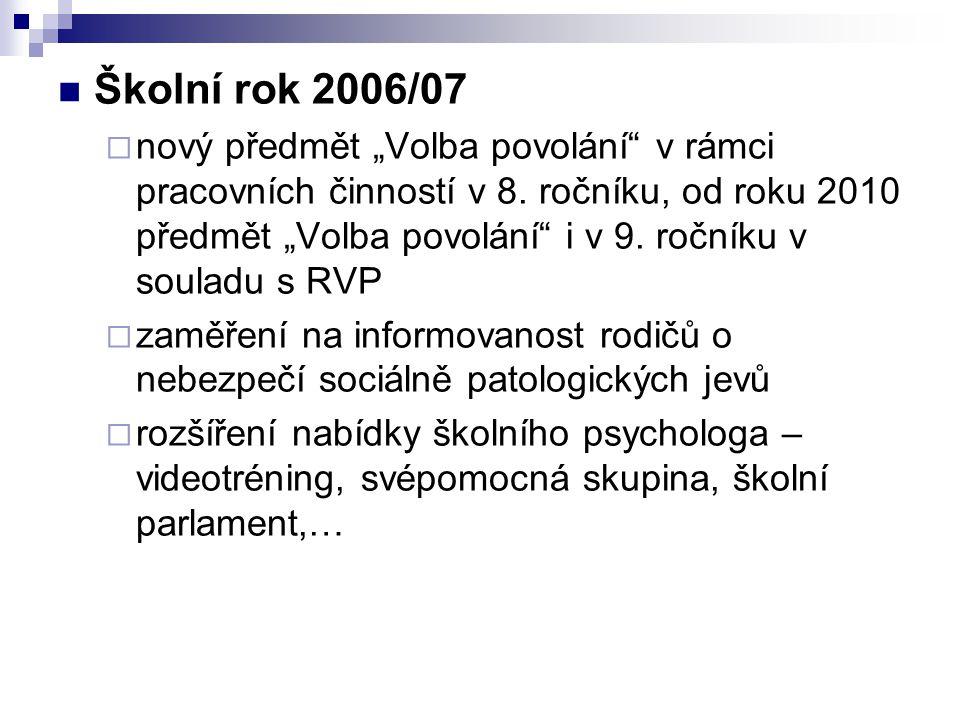 Školní rok 2006/07