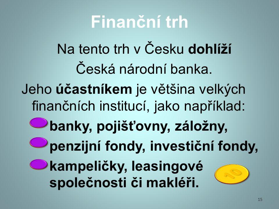 Na tento trh v Česku dohlíží