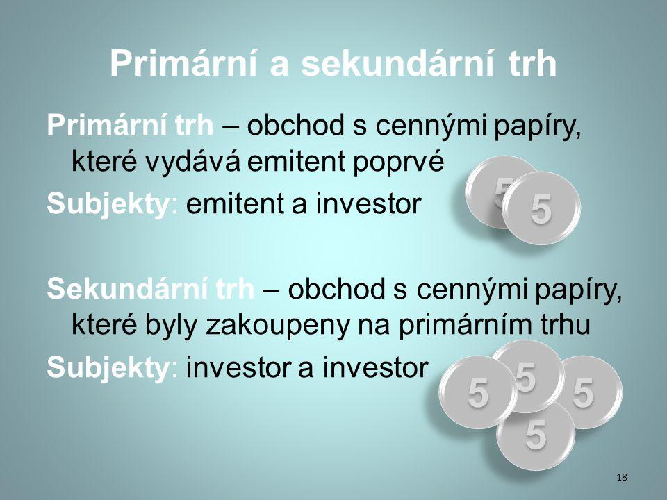 Primární a sekundární trh