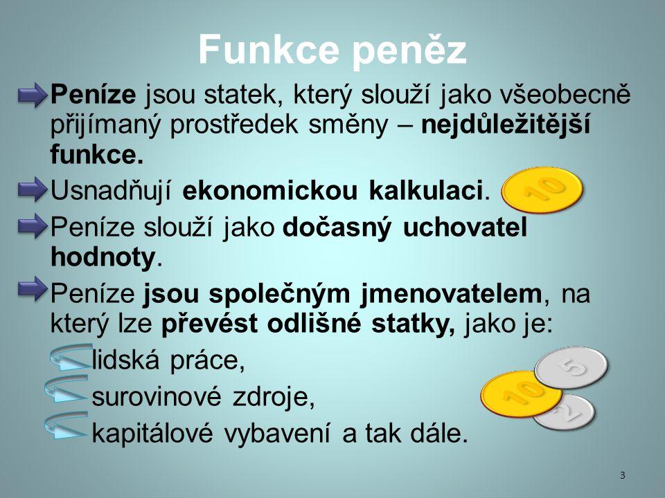 Funkce peněz