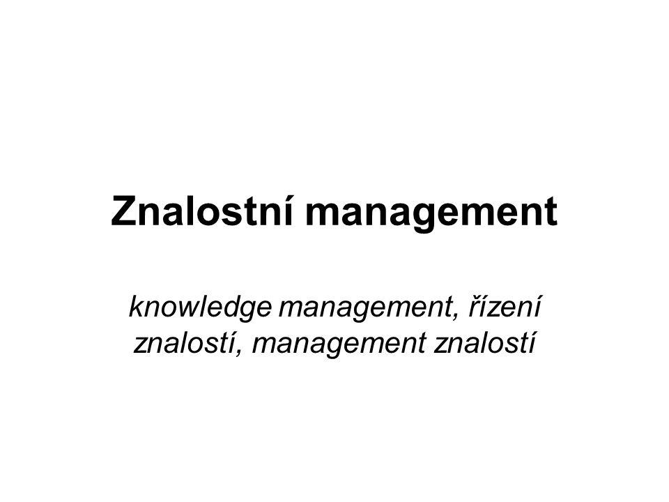 knowledge management, řízení znalostí, management znalostí