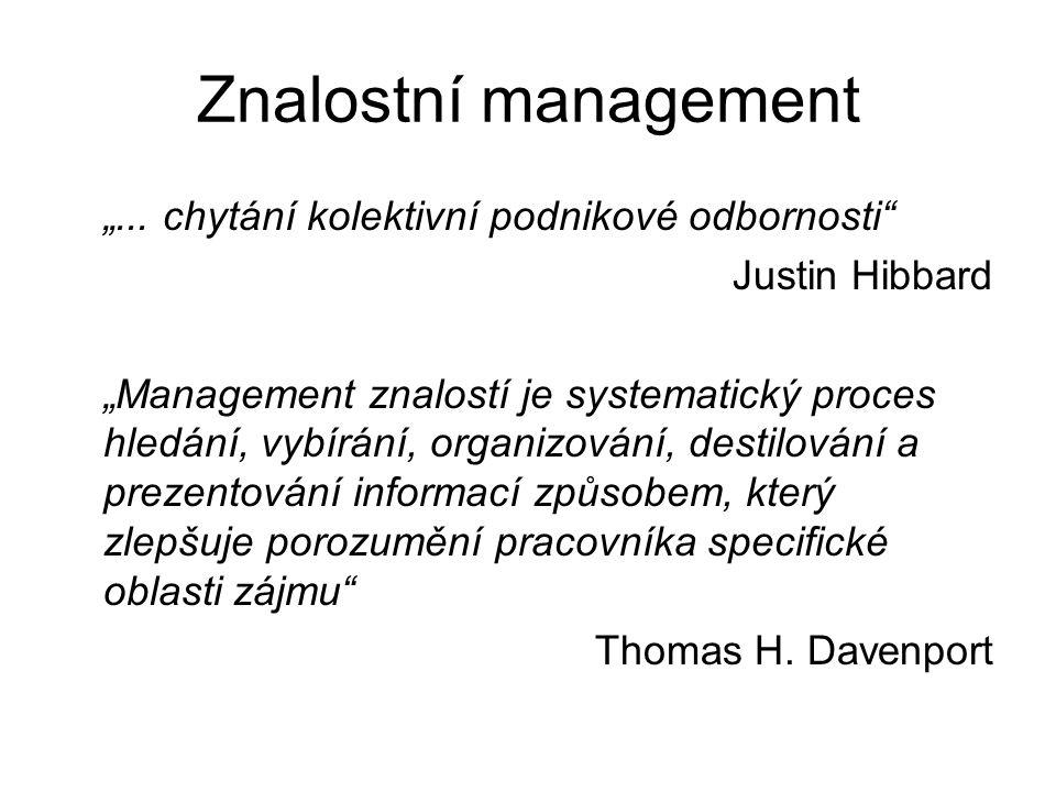 """Znalostní management """"... chytání kolektivní podnikové odbornosti"""