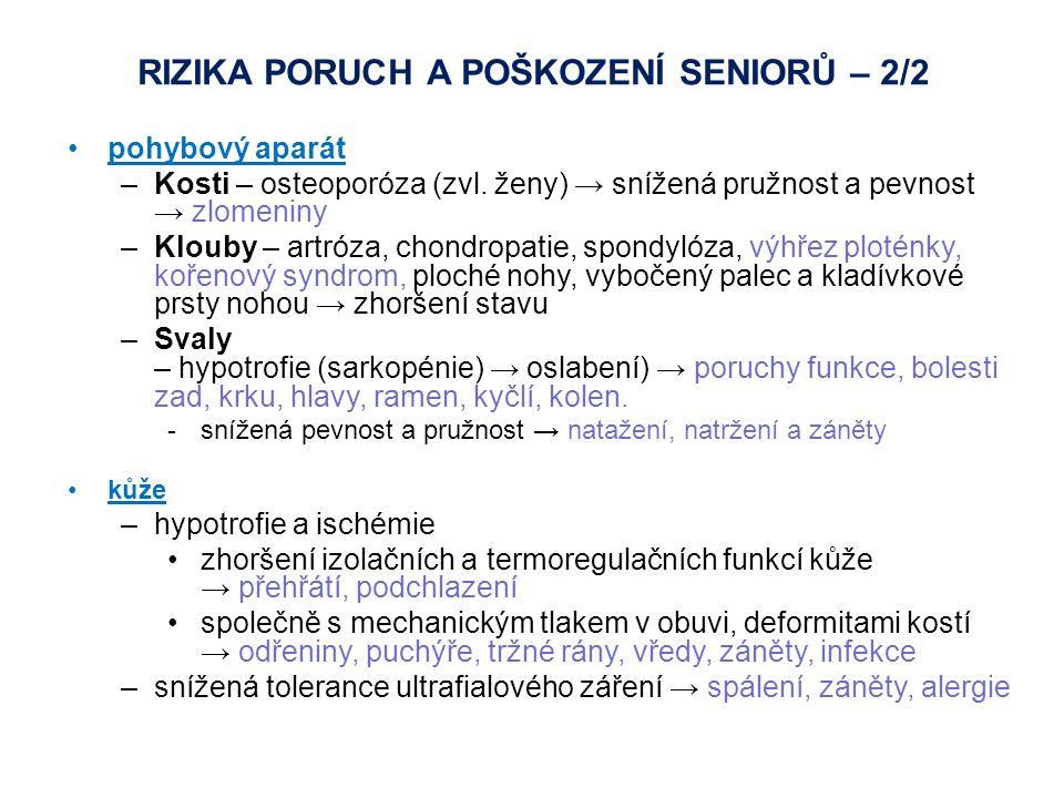 RIZIKA PORUCH A POŠKOZENÍ SENIORů – 2/2