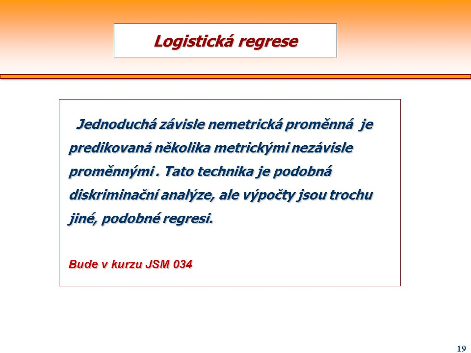 Logistická regrese