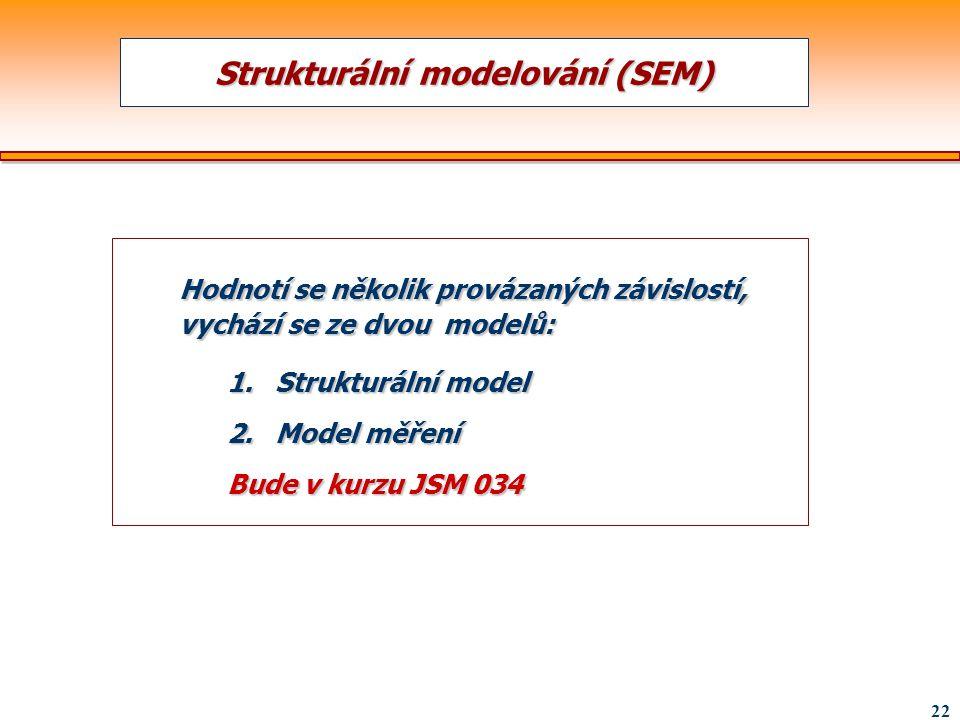 Strukturální modelování (SEM)