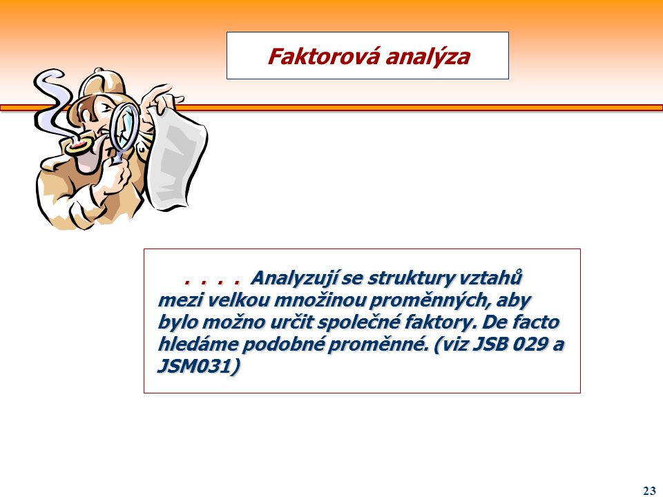 Faktorová analýza