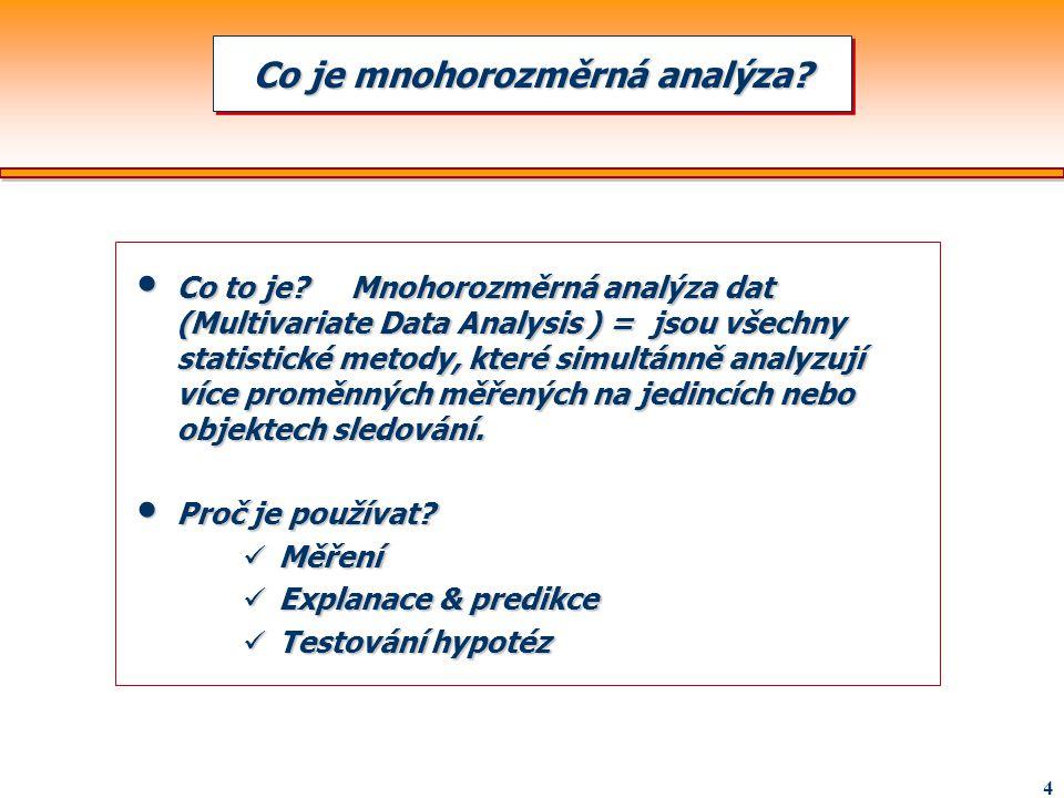 Co je mnohorozměrná analýza