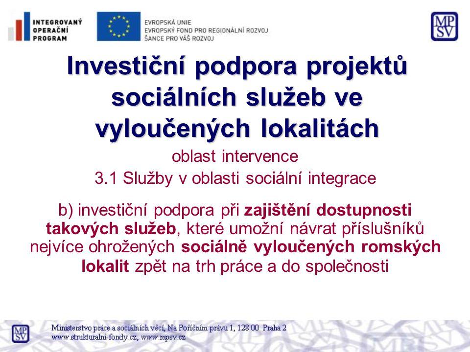 3.1 Služby v oblasti sociální integrace
