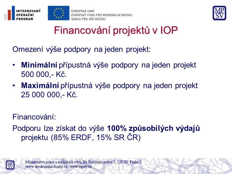 Financování projektů v IOP