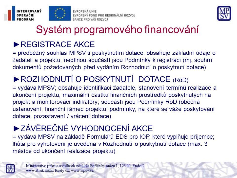 Systém programového financování