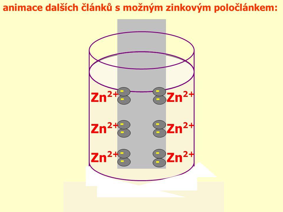 Zn2+ - animace dalších článků s možným zinkovým poločlánkem: