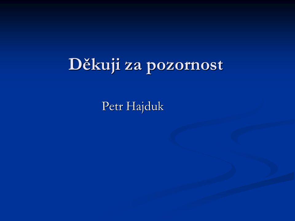 Děkuji za pozornost Petr Hajduk
