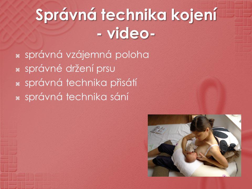 Správná technika kojení - video-