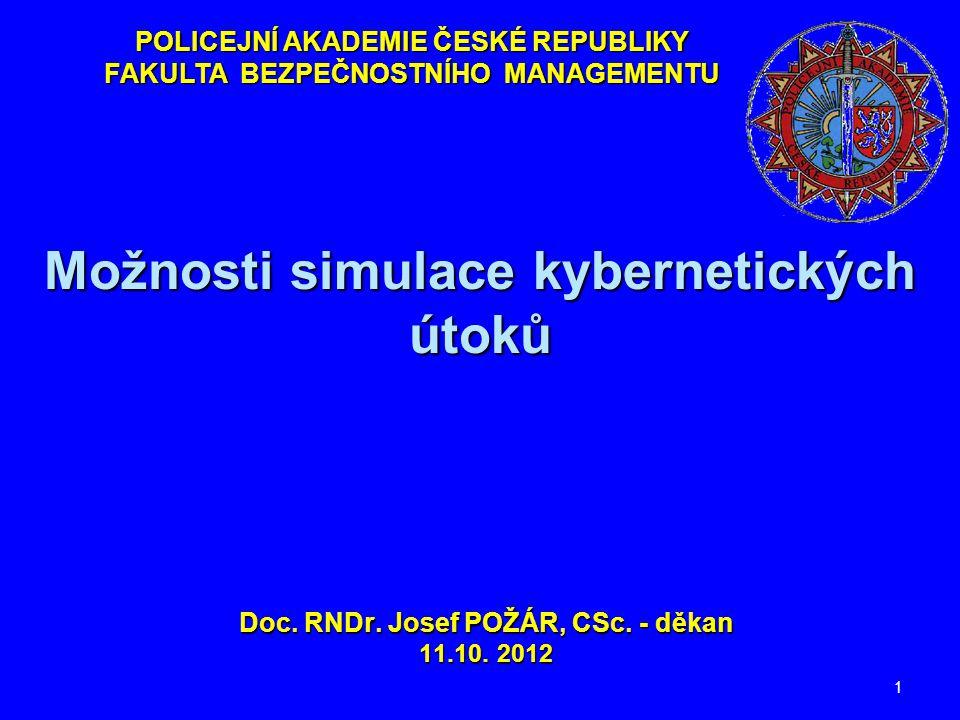 Možnosti simulace kybernetických útoků