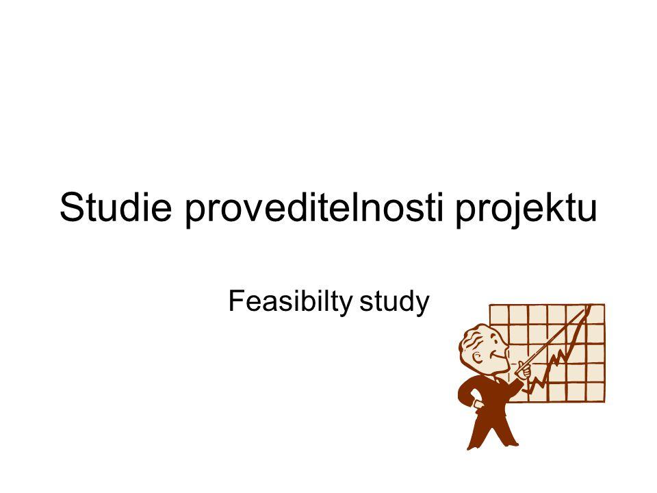 Studie proveditelnosti projektu