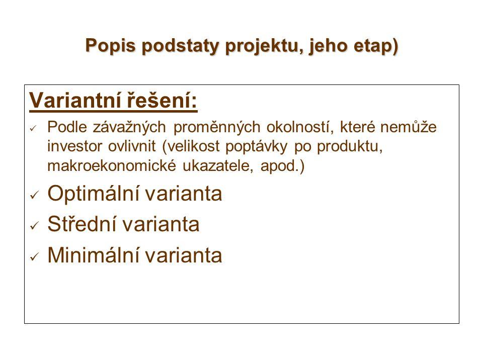 Popis podstaty projektu, jeho etap)