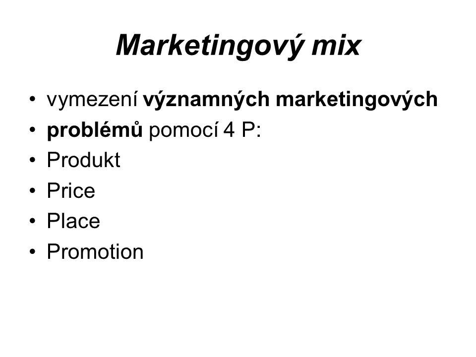Marketingový mix vymezení významných marketingových