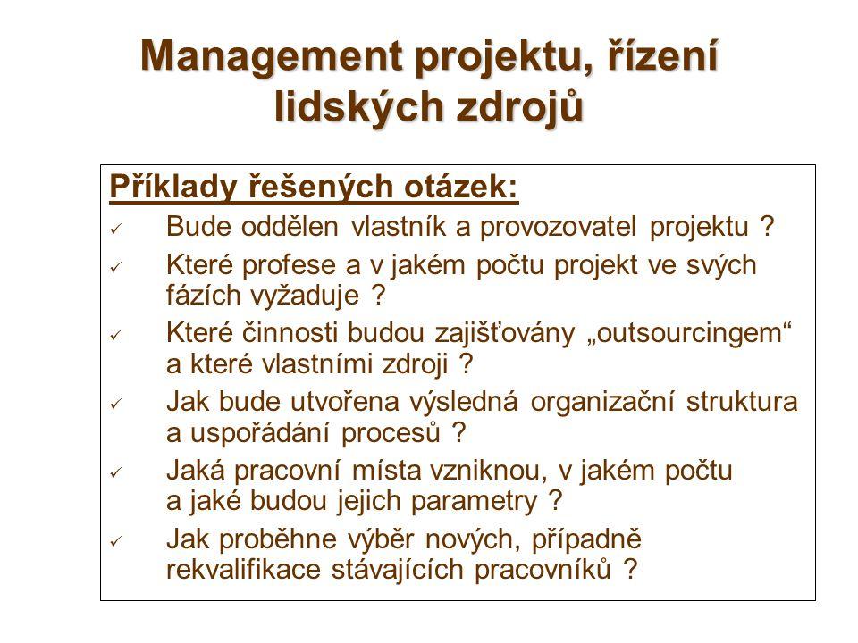 Management projektu, řízení lidských zdrojů