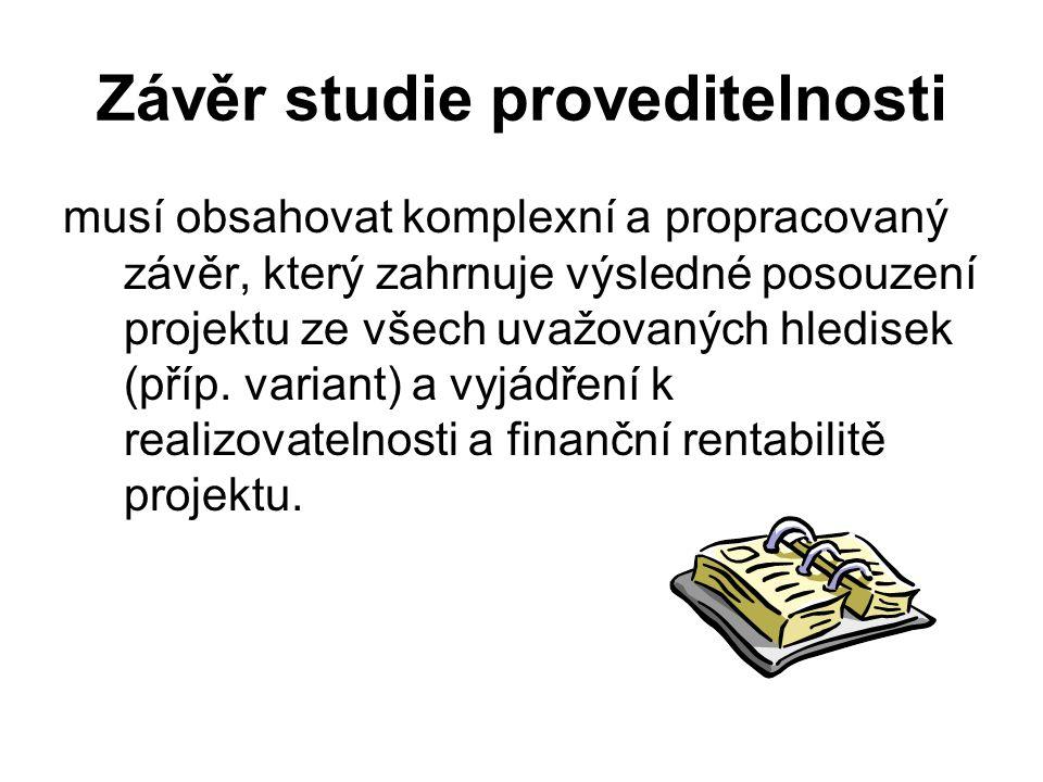 Závěr studie proveditelnosti