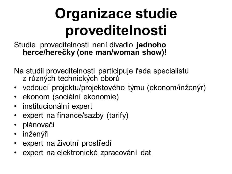 Organizace studie proveditelnosti