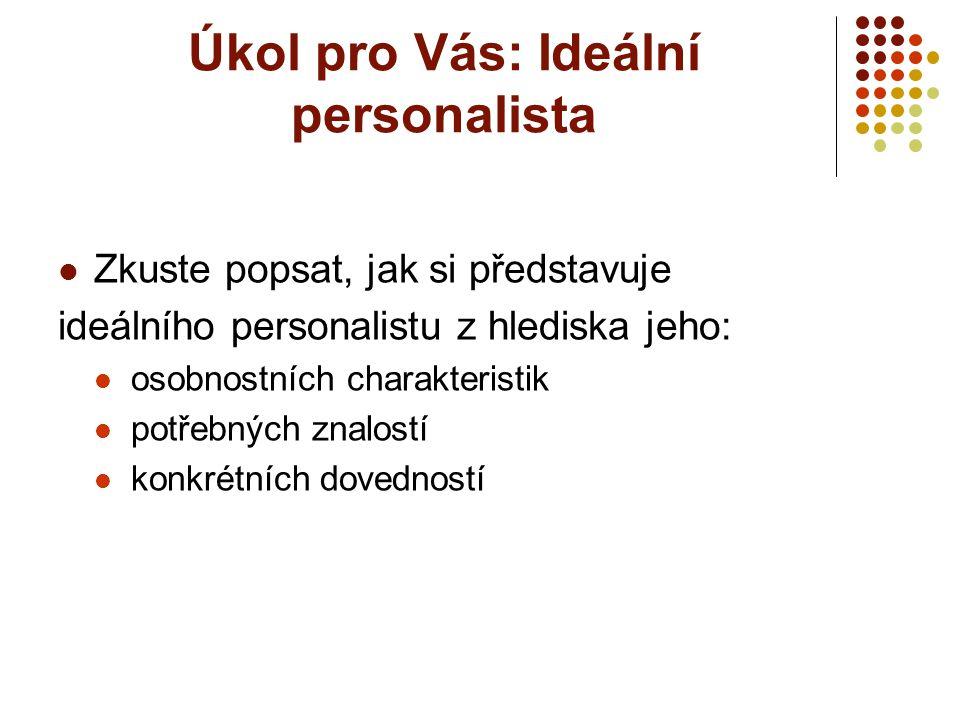 Úkol pro Vás: Ideální personalista