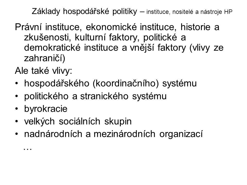 hospodářského (koordinačního) systému