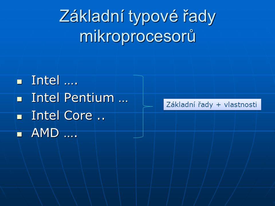Základní typové řady mikroprocesorů