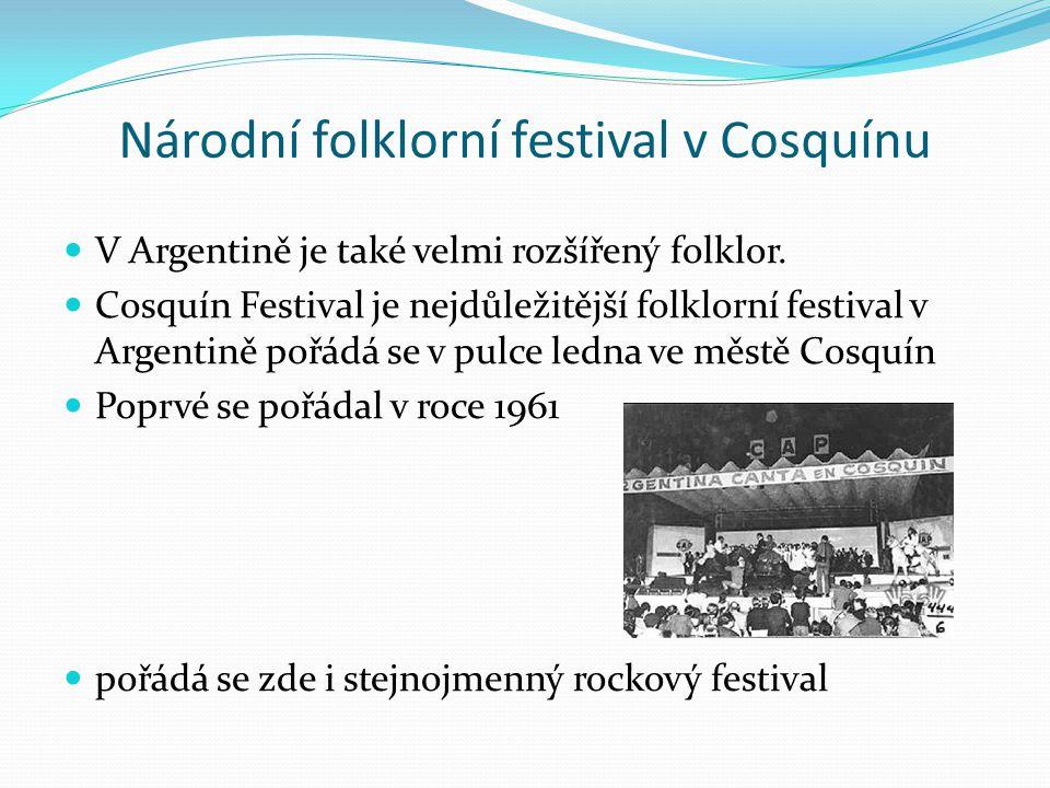 Národní folklorní festival v Cosquínu
