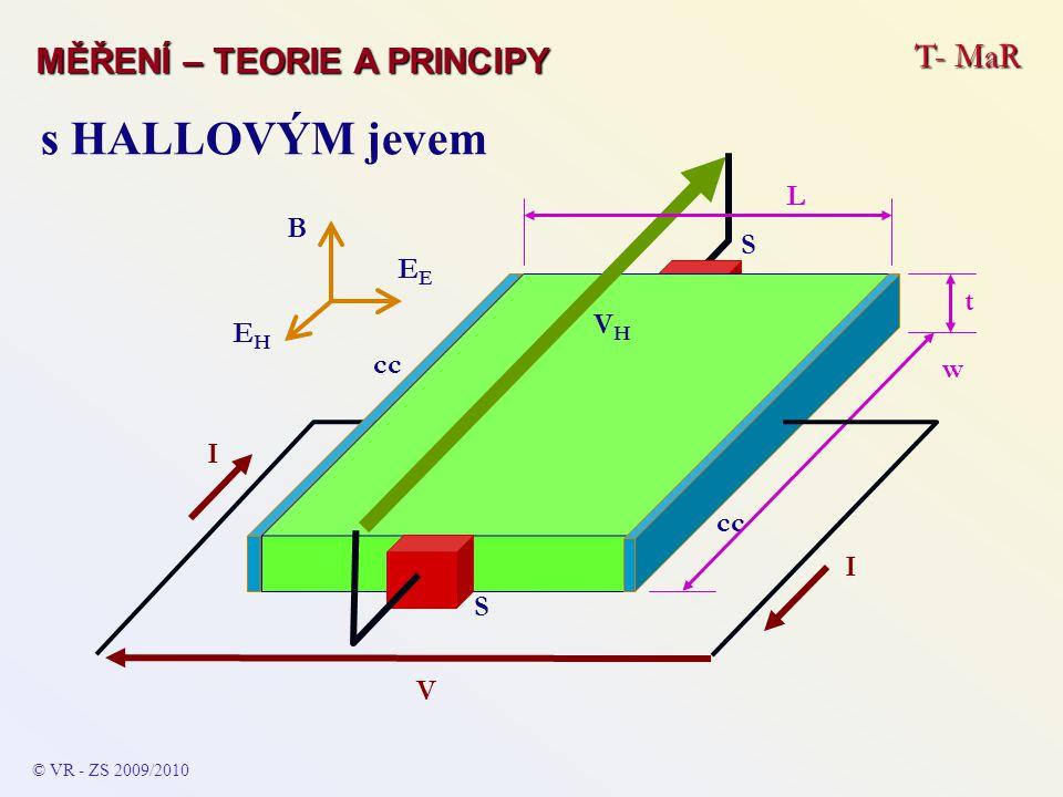 s HALLOVÝM jevem T- MaR MĚŘENÍ – TEORIE A PRINCIPY L B EE t VH EH w cc