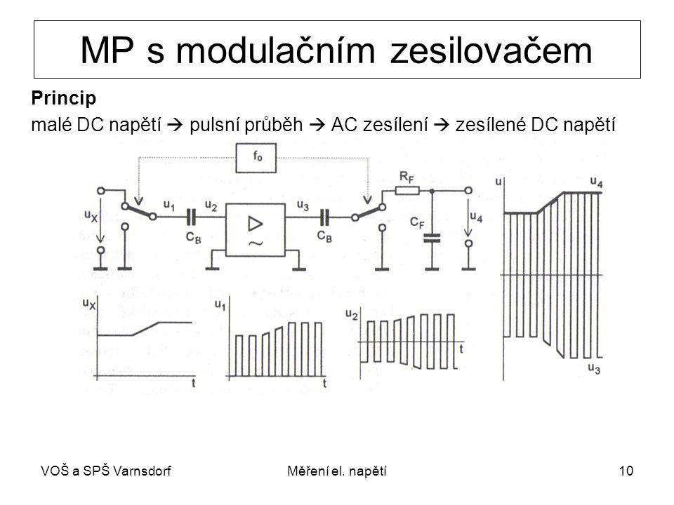 MP s modulačním zesilovačem