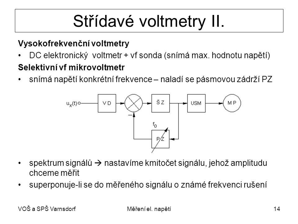 Střídavé voltmetry II. Vysokofrekvenční voltmetry
