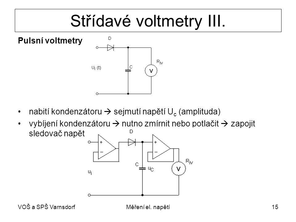 Střídavé voltmetry III.