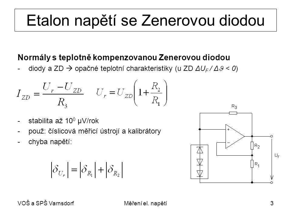 Etalon napětí se Zenerovou diodou
