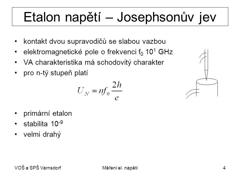 Etalon napětí – Josephsonův jev