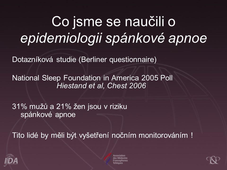 Co jsme se naučili o epidemiologii spánkové apnoe