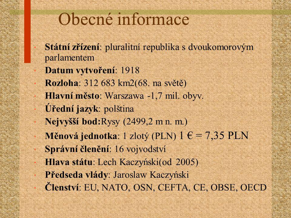 Obecné informace Státní zřízení: pluralitní republika s dvoukomorovým parlamentem. Datum vytvoření: 1918.