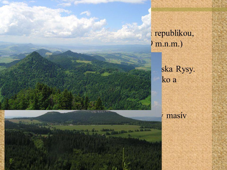 Geografie Stolové hory- u hranice s Českou republikou, nejv. Hora- Velká Hejšovina (919 m.n.m.)